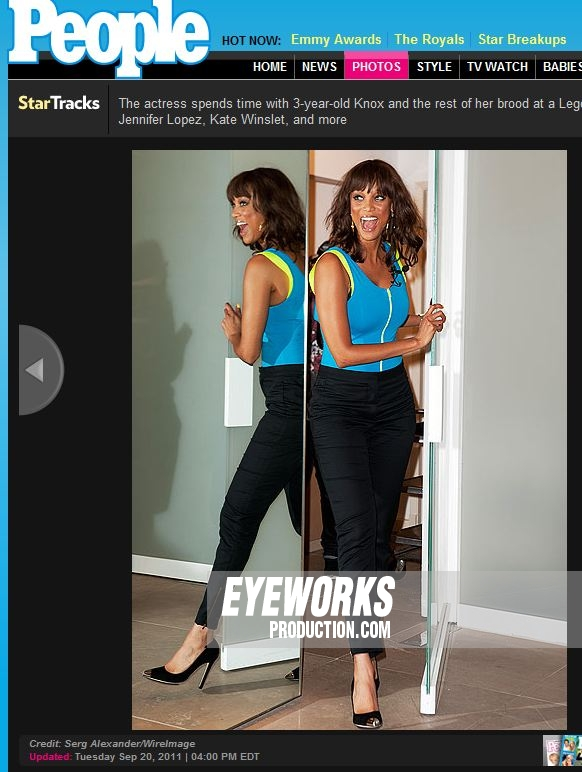 Image Published in People Mag Tara Banks by Eyeworksproduction